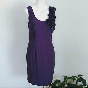 Cynthia steffe fitted purple flower dress NWT